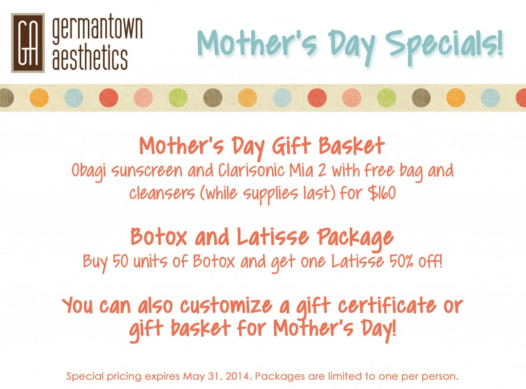 May and Mothers Day Promos